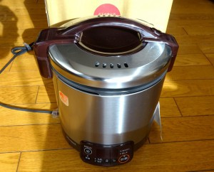 RR-050VMTガス炊飯器到着